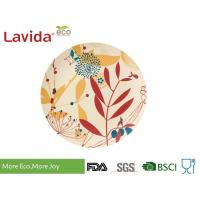 China Bright Color Bamboo Fiber Dishes Custom Printing Smooth Surface Mat Finished wholesale
