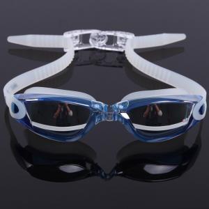 China Mirror Coated Lenses Anti Fog Swim Goggles Anti Shatter , Easy Release Head Strap wholesale