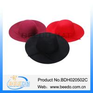 China Wholesale new york floppy hat 100% wool felt dome hat on sale