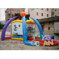 China 5 - In - 1 Colored Inflatable Kids Games / Inflatable Volleyball Court For Partys wholesale