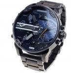 China Wholesale NEW DIESEL DZ7331 MR. DADDY 2.0 GUNMETAL BLUE DENIM BRACELET MENS WATCH wholesale