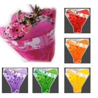 Colorful Flower Packaging Flower Bouquet Sleeves with Gravure Printing