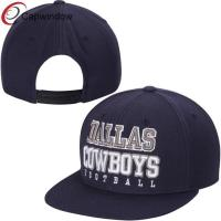 China Dalla Cowboys Navy Blue Practice Wool Baseball Caps , Snapback Hat wholesale