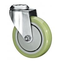 """5""""X1-1/4 Customized PU Caster Wheel With Swivel Kingpin Fitting for sale"""