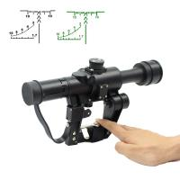 China Hunting Optical Sight Rifle Scope , Black Sniper Scope AK 4X26 SVD wholesale