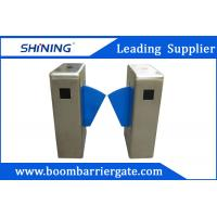 China 550mm Breadth Single Lane Flap Barrier For Security With QR Code Reader wholesale