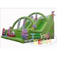 China PVC Inflatable Peppa Pig Double Lane Children Inflatable Bounce Slide Combo wholesale