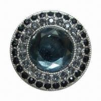 China Button, Made of Glass, Zinc Alloy Material, Customized Designs Welcomed wholesale
