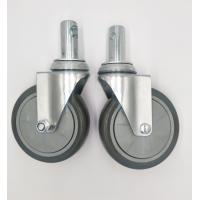 Carts 5 Inch Caster Wheels , Shelf Metal Food Service Equipment Casters for sale