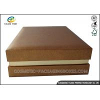 China High End Leather Cosmetic Box , Custom Leather Box With Pvc Blister Flocking wholesale
