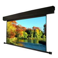 300 39 39 large electric underwind screen motorized screen hd for Motorized retractable projector screen