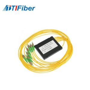 China Customized yellow FTB ABS Fiber splitter ABS box apc fiber optic pigtail wholesale