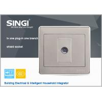 China modern design wall switch and socket, 1Gang TV  wall switches and sockets Satellite Television socket with Computer sock wholesale