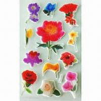 China 3-D Puffy and Foam Stickers, Available in Various Styles and Designs, OEM Orders are Welcome wholesale