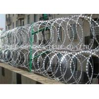China Hot Dipped Galvanized Coiled Razor Wire Zinc Coated High Tensile For Fence wholesale