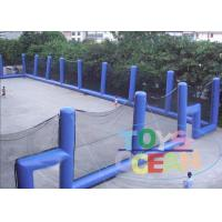 China 30X15M Blue Commercial Paintball Inflatable Bunkers Ultimate Backyard With Net wholesale