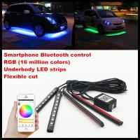 China Phone Control Flexible RGB LED Interior Footwell Lights Strips Car LED DRL Atmosphere Lamps interior light strip wholesale