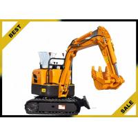 Quality 800kg Crawler Hydraulic Excavator 340mm Bucket Width , Road Digging Machine For Farm Use for sale