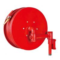 China Red Fire Hose Reel And Cabinet Automatic / Manual Swinging Fire Water Hose on sale