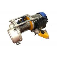 China Multifunction Mini Electric Wire Rope Winch 300kg - 1000kg 12 - 14 M/Min Lifting Speed on sale