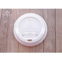 China Compostable PLA Flat Takeaway Cup Lids Eco Friendly 80mm / 90mm Diameter wholesale