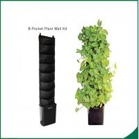 China Eco Friendly 8 Pocket Vertical Garden Kit Wall Garden Growing Bags 25x13cm Felt material Black or as request wholesale