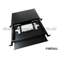 China 48 Fibers Slide Out Fiber Patch Panel With Rails And Front Board To Bear Pigtail on sale