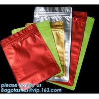 China Laminating Aluminum Foil Food Packaging metallized zipper Standing Up Pouch Bag,foil lined stand up 250 g coffee bag 16* on sale