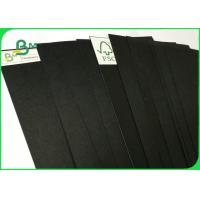 China FSC Certified 100% Virgin Pulp Solid 350gsm Black Kraft Paper For Packing wholesale