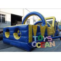 China Outdoor Crazy Inflatable Obstacles Combo Kids / Adults Obstacle Course Equipment wholesale