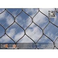 China SS316 / SS304 2.0mm  Stainless Steel Knotted Cable Mesh with 80X139mm Mesh Opening wholesale