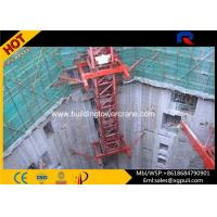 China High Performance Hydraulic Mobile Crane , Inner Climbing Tower Crane Remote Control wholesale
