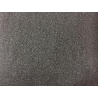 China 100 Polyester Velvet Fabric 580g/m , Wool Upholstery Fabric Charcoal Color on sale