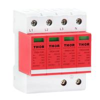China power surge protector device lightning arrester 40KA indoor surge protection tvss wholesale