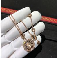 China Charming Cerchi Astrale 18K Rose Gold Diamond Necklace Customization Available wholesale