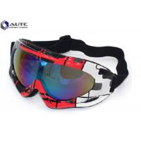 China PC Mirror UV PPE Safety Goggles Black Dirt Bike Racing Wearing Comfortable on sale