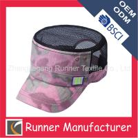 Wholesale Mesh and Printing Flat Top Army Cap from china suppliers
