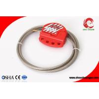 China Easy to use Adjustable Stainless Steel Cable Lockout pc body 6mm thickness on sale