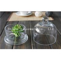 China Clear handmade glass lamp shade glass cake cover wholesale