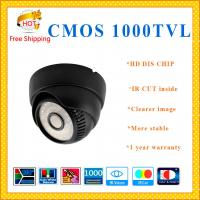 "China 1000TVL1/3"" Color CMOS camera DIS CHIP with IR-CUT plastic Dome security Camera 36 IR indoor outdoor CCTV Camera wholesale"