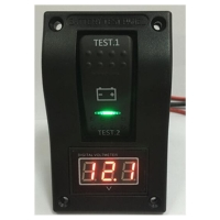 China Factory Sale Custom DC12-24V 4Pin ON-OFF-ON 3 Gear With Digital Voltmeter Battery Rocker Switch For Car Boat Yacht wholesale