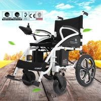 China 6009 Light Weight Electric Folding Wheelchair For Elderly with Steel Material wholesale