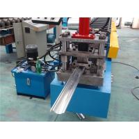 China PLC control Door Frame Roll Forming Machine 128mm Coil Width wholesale