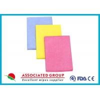 China Needlepunched Nonwoven Cleaning Wipes Color Dyeing Disposable Or Recycle use wholesale