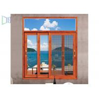 China Heat Insulation Aluminium Sliding Windows Soundproof With Safety Flyscreen wholesale