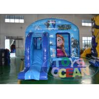 China Playground Blue Frozen Inflatable Bounce House Indoor / Outdoor wholesale