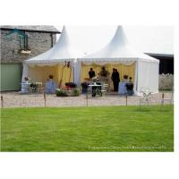 China 8m * 8m Large Sun / Water / Fire Proof Pagoda Tents With Roof Linings For Outdoor Party wholesale