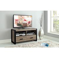 China Metal Frame Wooden Television Stands With Natural Wood Veneer And Two Drawers wholesale