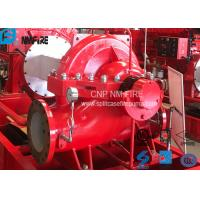 China High Performance Split Case Fire Pump , Fire Fighting Water Pump 180kw Shaft Power wholesale