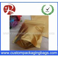 China Heavy Duty Plastic Ziplock Bags , Matte Golden Mylar Foil Storage Pouch wholesale